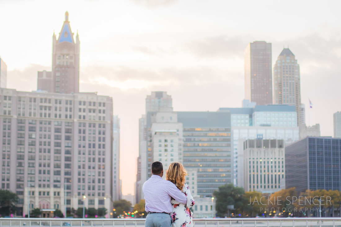 chicago engagement photography fall sunset 7